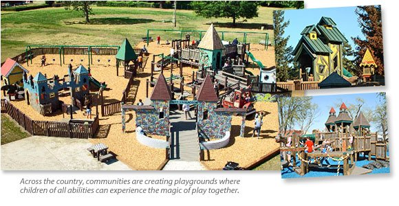 Examples of similar playgrounds in other communities.