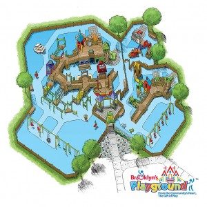 Brooklyn's Playground 3D Color Illustration